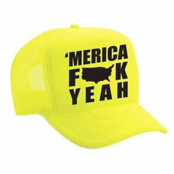 Snapback Hat Merica F**k Yeah Hats Cap  4th of july Summer Cool Hats USA