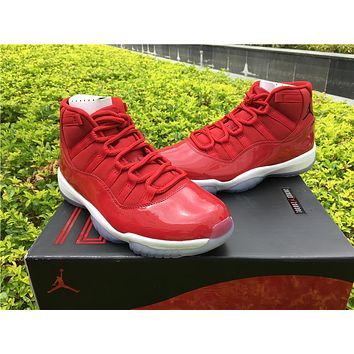"Air Jordan 11 Retro AJ11 ""Gym Red"" Nike Sport Basketball Shoes"