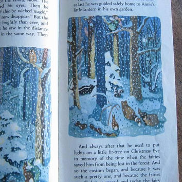 Wonderful Vintage Children's Christmas Book; Tall Book of Christmas; 1950s Christmas Story-Poem Collection, Color Illustrations/Worn/Reading