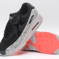 NIKE AIR MAX 90 fashion ladies men running sports shoes sneakers F-PS-XSDZBSH Black + white starry bottom orange bottom