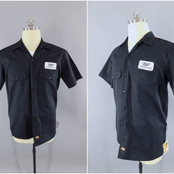 Miller Beer / Delivery Man / Work Shirt / Miller Genuine Draft / Beer Patch / Dickies / Medium / Patches / Short Sleeve