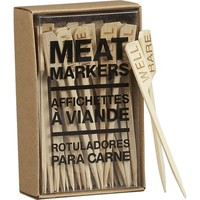 Bamboo Meat Markers Set of 50