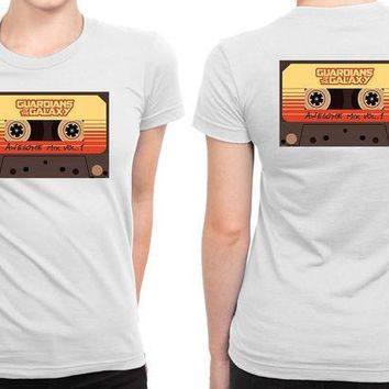 Guardians Of The Galaxy Awesome Mix Tape B 2 Sided Womens T Shirt