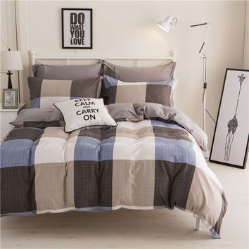 Bedclothes Duvet Cover Bed Sheet Bedspread King Queen Twin Size Bed Linen Cotton housse de couette Size 3pcs