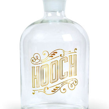 Pass Me The Hooch Glass Booze Decanter