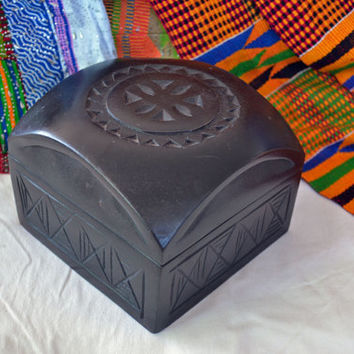 African Art, Wooden Box, Decorative Box, African American Art, Tribal Art, Ethnic Art