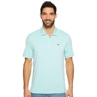 Armstrong Three Color Stripe Polo in Blue Fin by Vineyard Vines