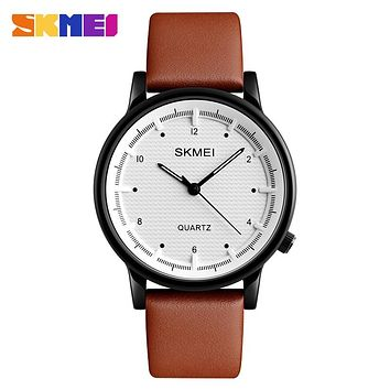 Men Quartz Watch Minimalist Waterproof Sport Watches Leather Strap Luxury Fashion Wristwatches