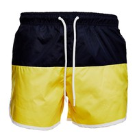 The Idle Man Runner Swim Shorts Yellow