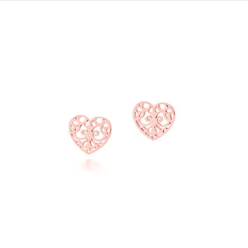 Tiffany & Co. - Tiffany Enchant® heart earrings in RUBEDO® metal.
