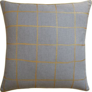 Coquette Heather and Gold Pillow