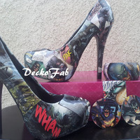 Batman The Dark Knight High Heel Pumps by DeckoFab on Etsy