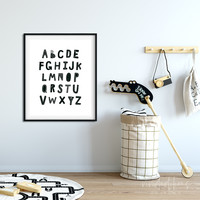 Scandi Nursery Alphabet Print