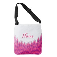 Personalize Women's Beautiful Pink Purple Feather Tote Bag