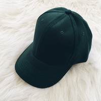 Curved Visor Cap (Hunter Green)
