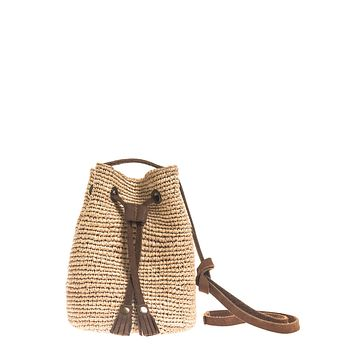 Mini Raffia Bucket Bag