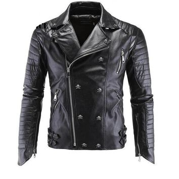 Motorcycle Bomber Leather Jacket