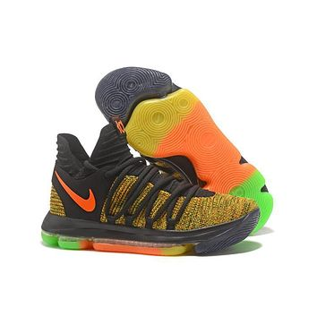 Nike Mens Kevin Durant Kd 10 Jam Color Basketball Shoes | Best Deal Online