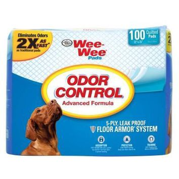 """Wee-Wee Odor Control Pads for Dogs, 22"""" x 23"""", 100 count"""