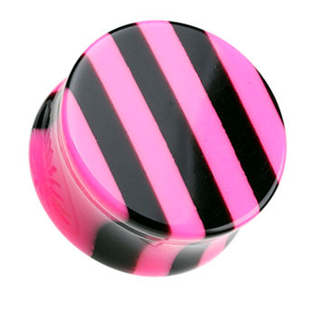 Brilliant Stripes Double Flared Ear Gauge Plug