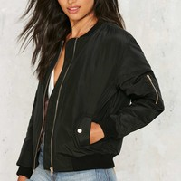 Glamorous Take Games Bomber Jacket - Matte Black