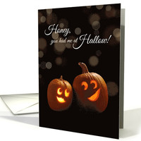 Had me at Hello, Halloween Romantic Jack-o-lanterns card