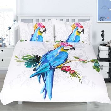 Macaw Duvet Cover Set 3 Pieces