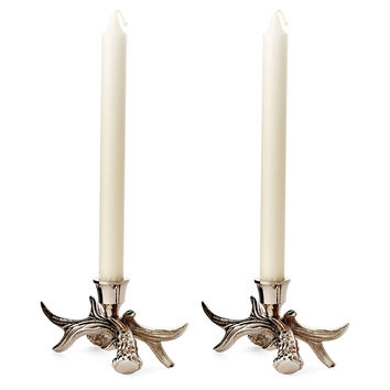 Pair of Stag Candlesticks, Silver, Candlesticks