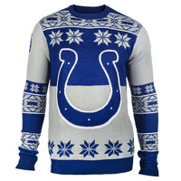 Indianapolis Colts Forever Collectibles KLEW Big Logo Ugly Sweater Sizes S-XXL w/ Priority Shipping