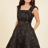 Tasteful Triumph Fit and Flare Dress in 10
