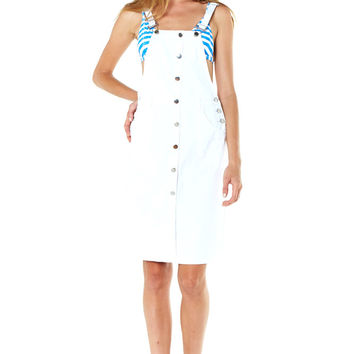 Overall Dress - White