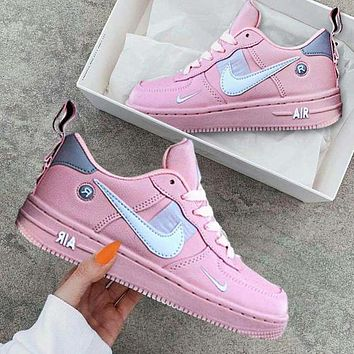 NIKE AIR FORCE 1 DUMR Fashion New Hook Women Men Sports Leisure Running Shoes Pink