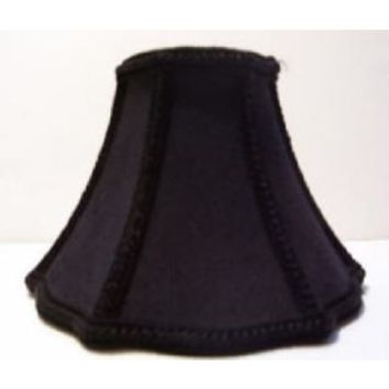 """34605 - Large Black Clip-On Lamp Shade With Gold Liningsized 3"""" Top X 5 Bottom  X  4 1/2 Height"""