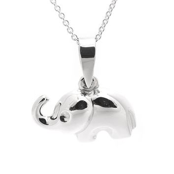 Sterling Silver Trunk up Lucky Elephant Necklace