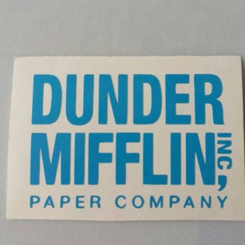 DUNDER MIFFLIN The Office Vinyl Decal . Free Shipping Yeti Window Car Laptop Wine Glass Coffee Beer Mug Frame Sports Bottle Sticker