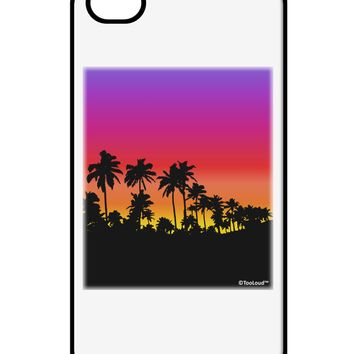 Palm Trees and Sunset Design iPhone 4 / 4S Case  by TooLoud