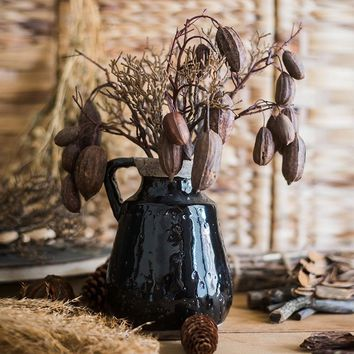 """Rustic Cocoa Branch Stem 14"""" Tall"""