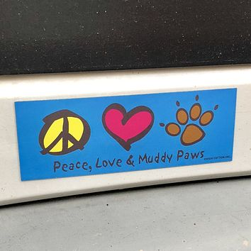 Peace Love Paws Magnet