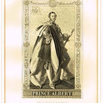"""Archer's Royal Portrait Pictures - """"PRINCE ALBERT"""" - Tinted Engraving - 1880"""
