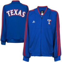 adidas Texas Rangers Youth Girls On-Field Track Jacket - Royal Blue - http://www.shareasale.com/m-pr.cfm?merchantID=7124&userID=1042934&productID=520930718 / Texas Rangers
