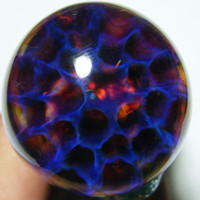 Glass Pipe PURPLE HONEYCOMB LargeTwister Spoon, Clean Heavy Color Change Inside Out Frit Blown Glass Bowl