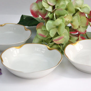 Haviland Silver Anniversary Bowls / Fruit-Dessert Bowls / SET of 3