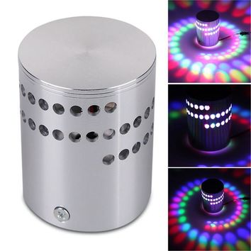 2018 New Fashion Colorful RGB Spiral Hole Wall Lamp Surface Install LED Light Luminaire Lighting For Birthday/Valentine's Day#35