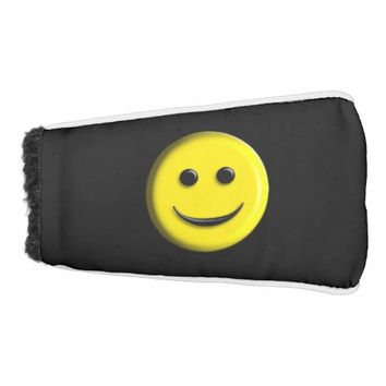 3D Smiley Face Golf Head Cover