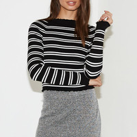 Kendall & Kylie Lettuce Edge Stripe Sweater Top at PacSun.com