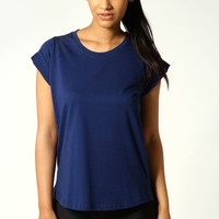 Ria Roll Back Sleeve Jersey T-Shirt