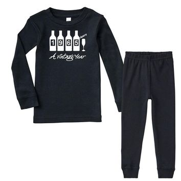 bottles 1965   mens funny Infant long sleeve pajama set
