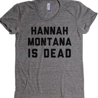 hannah-Female Athletic Grey T-Shirt