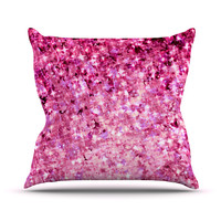 "Ebi Emporium ""Romance Me"" Pink Glitter Throw Pillow"