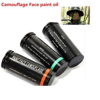 3pcs/set Military Waterproof Camouflage Compact face Paint Camo Bushcraft Paintball Bottle Oil Cream Greasepaint